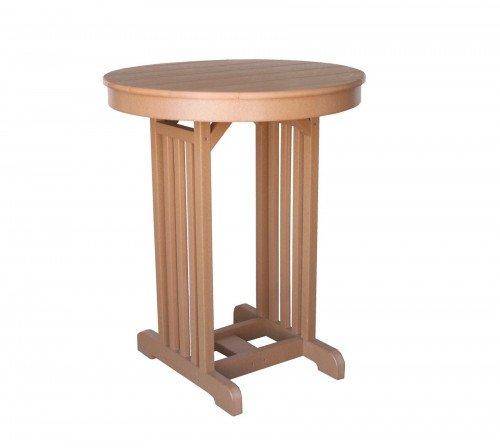 """The 33"""" Round Mission Pub Table From Signature Fine Furnishings"""