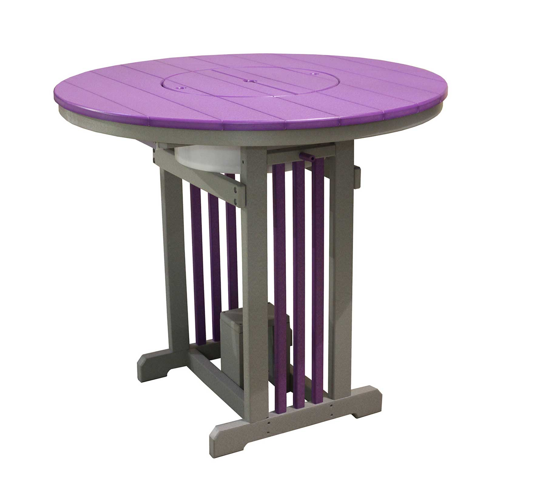 """The 48"""" Round Mission Pub Table From Signature Fine Furnishings"""
