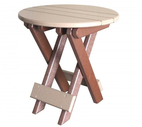 The Round Folding End Table From Signature Fine Furnishings