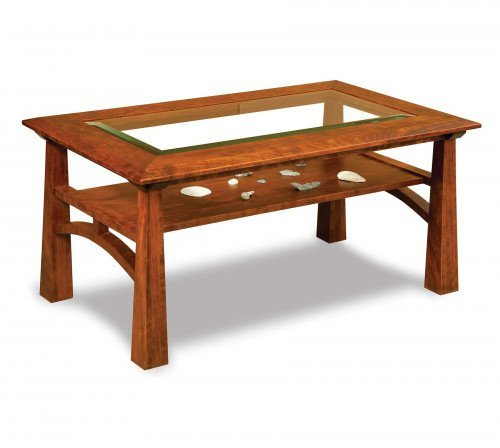 The Artesa Coffee Table with glass top From Signature Fine Furnishings