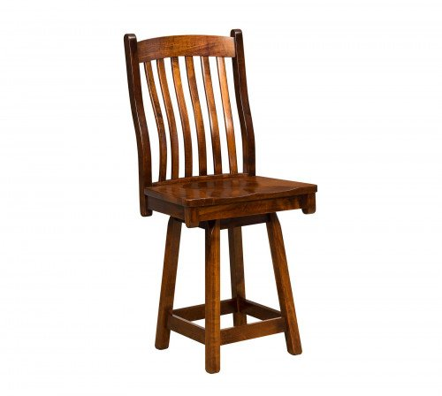 The Arts and Crafts Swivel Barstool From Signature Fine Furnishings