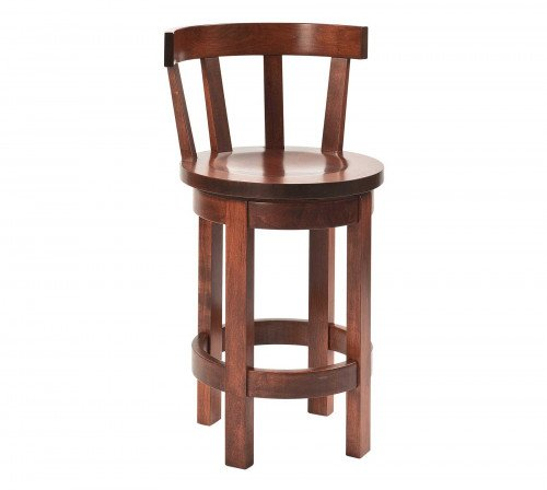 The Barrel Barstool with Curved Back From Signature Fine Furnishings