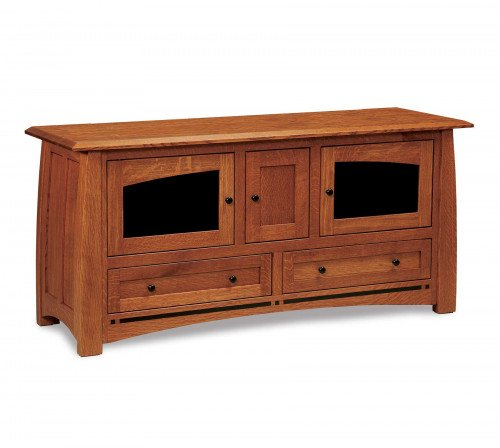 """The Boulder Creek 63"""" Entertainment Center with Drawers From Signature Fine Furnishings"""