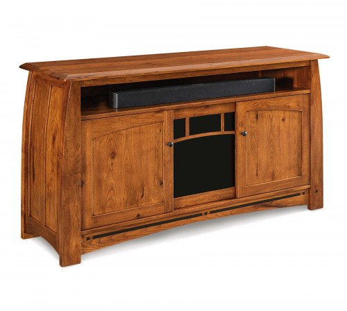 """The Boulder Creek 63"""" Tall Entertainment Center with Sound Bar From Signature Fine Furnishings"""