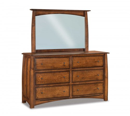 The Boulder-Creek 67 in. 6-drawer Dresser From Signature Fine Furnishings