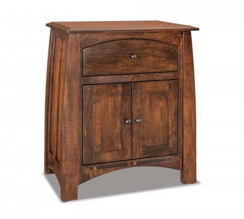The Boulder Creek 3-Drawer King Nightstand From Signature Fine Furnishings