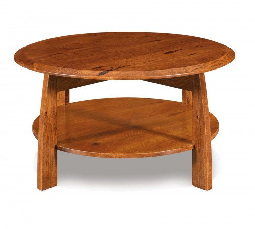 The Boulder Creek Round Coffee Table From Signature Fine Furnishings