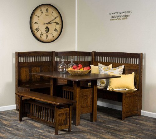 The Classic Mission Dining Nook Set From Signature Fine Furnishings