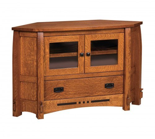 """The Colebrook 49"""" Corner Entertainment Center From Signature Fine Furnishings"""