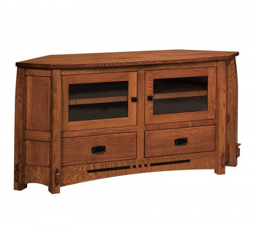 """The Colebrook 61"""" Corner Entertainment Center From Signature Fine Furnishings"""