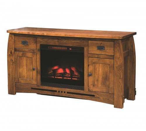 """The Colebrook 59"""" Entertainment Center with Fireplace From Signature Fine Furnishings"""