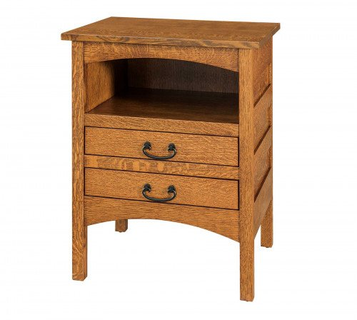 The Granny-Mission-2-drawer-Open-Nightstand From Signature Fine Furnishings