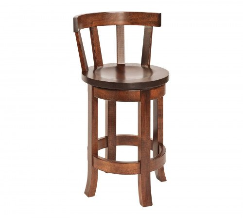 The Belmont Barstool with Curved Back From Signature Fine Furnishings