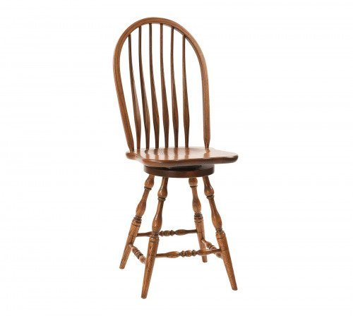 The Bent Feather Bow Swivel Barstool From Signature Fine Furnishings