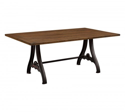 The Iron Forge Trestle Table From Signature Fine Furnishings