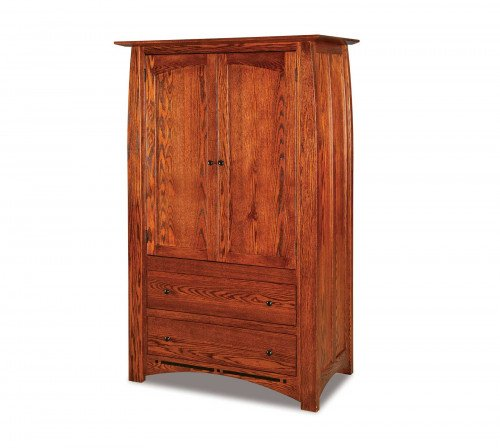 The Boulder Creek 2 drawer Armoire From Signature Fine Furnishings