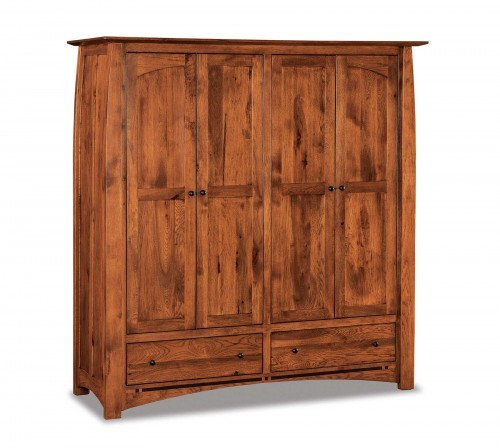 The Boulder Creek Double Wardrobe Armoire From Signature Fine Furnishings